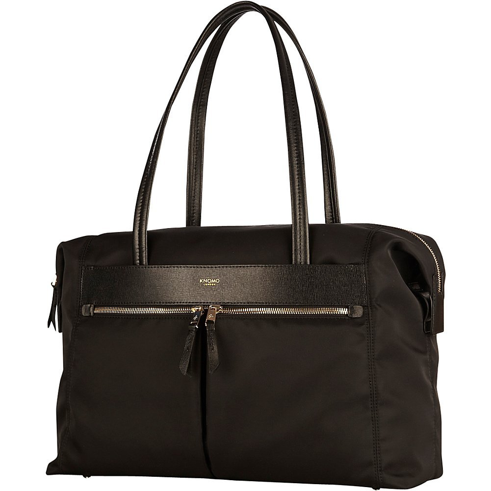 Knomo Mayfair Nylon Curzon Fold Down Shoulder Bag 15'' - Black (Black)