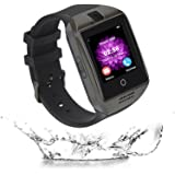 Reloj Inteligente, Elec.BGS Bluetooth Pantalla Táctil Smartwatch con Cámara Tarjeta SIM Impermeable Sports Fitness Tracker Smart Wrist para iPhone Android Samsung Huawei Sony (Black)