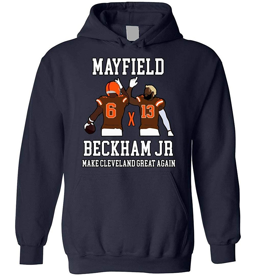 low priced ad0b8 f83b6 Mayfield Odell-Beckham-Jr Make Cleveland Great Adults Youth ...