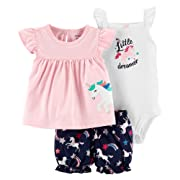 Carters Baby Girls 3-pc. Little Dreamer Layette Set Newborn Pink/Blue/White