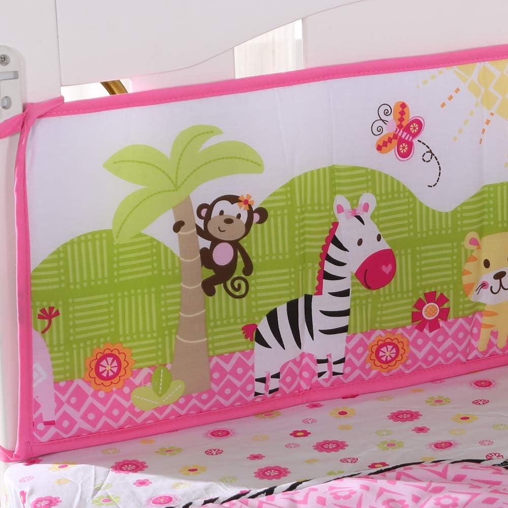 Pink A Wowelife Pink Baby Crib Bedding 7 Piece Animal Elephant Theme Nursery Crib Bedding Set