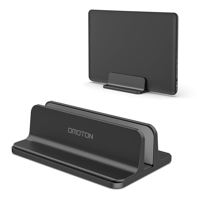 OMOTON Supporto Verticale in Alluminio per MacBook - Laptop - Pc Portatile - Nero vertical laptop stand-black