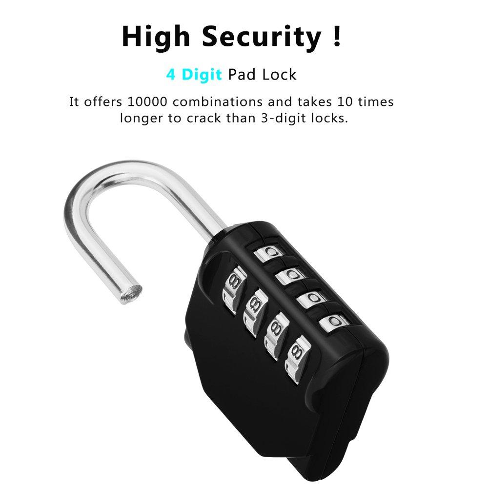 Combination Padlock Outdoor Locker Lock 4 Digit 2 Pack Combo Using Msp430 Launchpad Circuit Gym School Resettable Weatherproof For Gates Doors