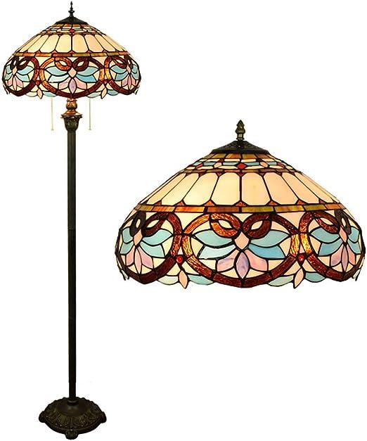 Lámpara de pie de lectura estilo Tiffany, iluminación de pie con ...