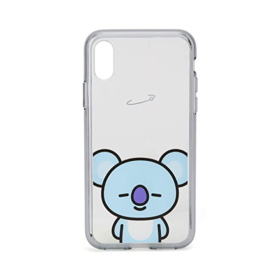quality design 52800 a2767 BT21 Official Merchandise by Line Friends - KOYA Character Clear Case for  iPhone X Case, Sky Blue