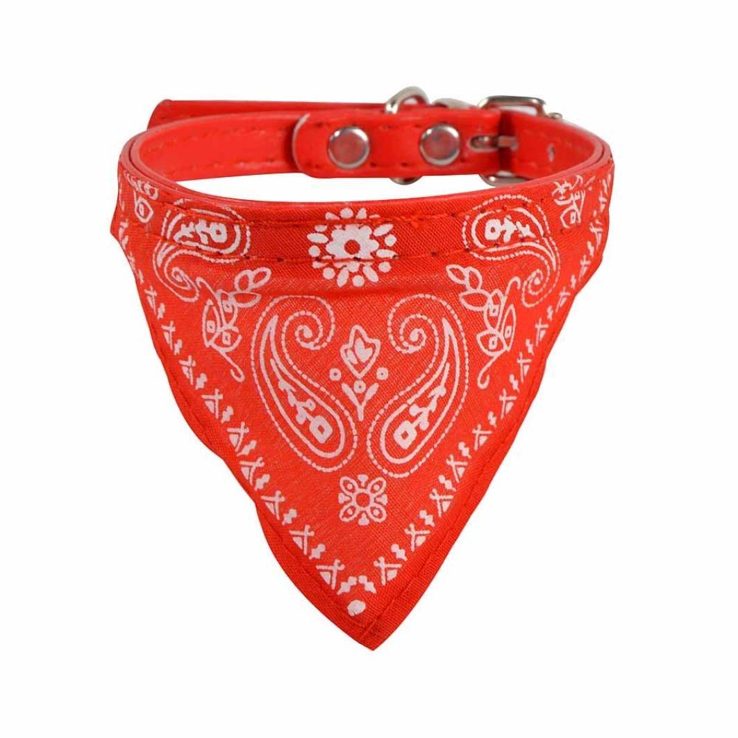 WYXlink Chien Bandana Collar-adjustable pour animal domestique Chien Chiot Chat col écharpe Collier bandana Neckerchief- 5coloris disponibles