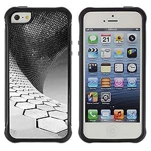 Suave TPU GEL Carcasa Funda Silicona Blando Estuche Caso de protección (para) Apple Iphone 5 / 5S / CECELL Phone case / / Science White Black Minimalist /