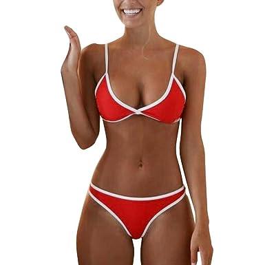 24ccc099cfeb Retro Bademode CLOOM Damen Brazilian Stil Bikini Sets Casual Badeanzug  Women Swimwear Vintage Sport Bademode Bikinis