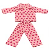Generic Pajamas Sleepwear Doll Clothes Fits 18 Inch American Girl 2 PCS Set - Pink