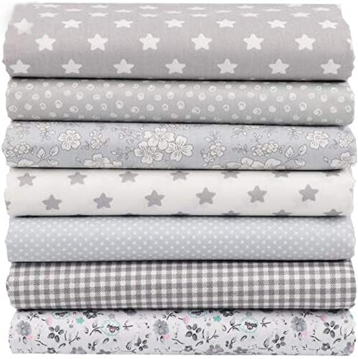 Tela de algodón para patchwork, 7 piezas, 40 x 50 cm, para patchwork, telas, costura, manualidades, tela Tilda: Amazon.es: Amazon.es