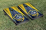 Los Angeles LA Galaxy LAGSC MLS Soccer Regulation Cornhole Game Set Triangle Weathered Version