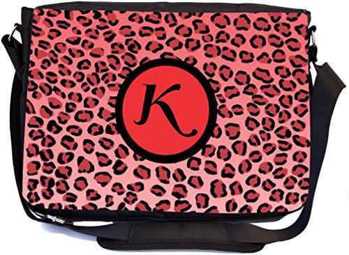 "Rikki Knight Letter ""K"" Initial Red Leopard Print Monogra..."