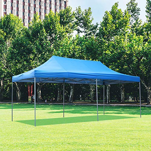 DOIT 10ft x 20ft Pop Up Canopy Tent Gazebo for Party or Camping,Portable Wheeled Carrying ()