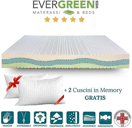 Evergreenweb Materassi.Evergreenweb Materasso Matrimoniale 160x190 In Memory Foam Alto
