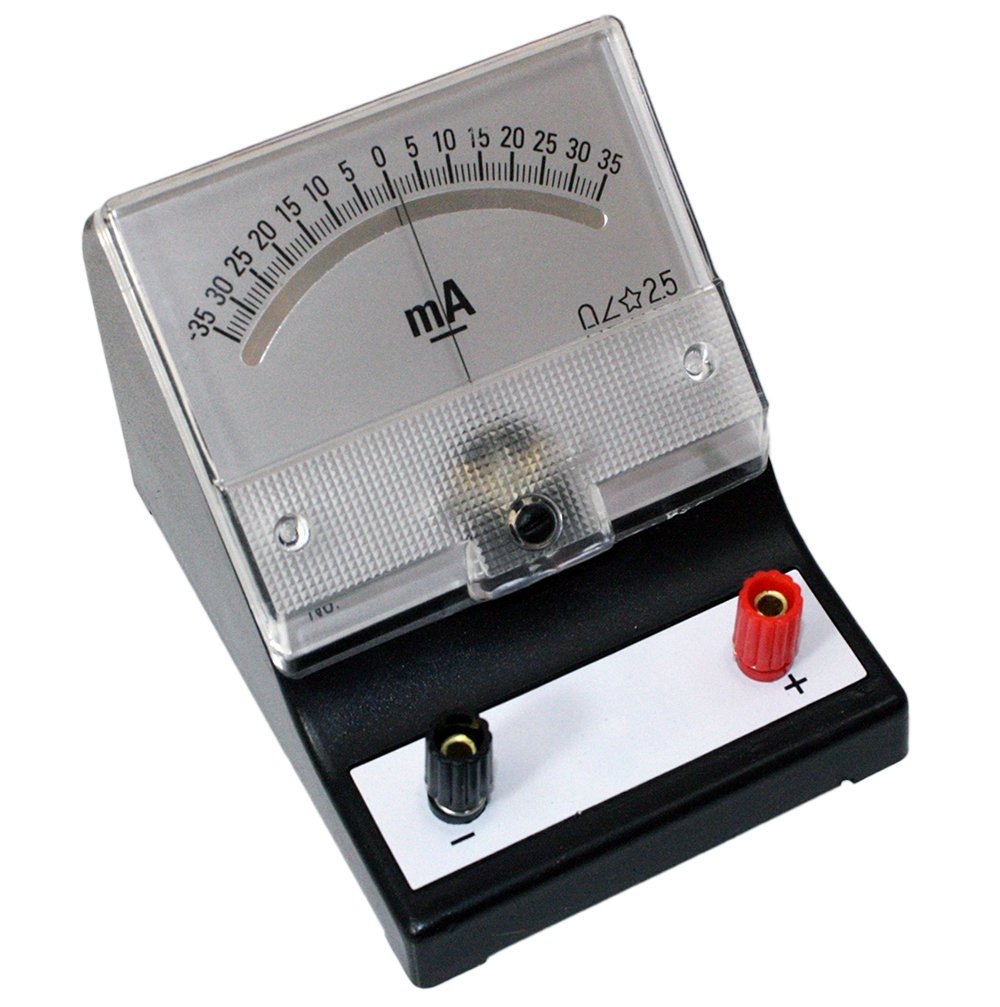 -35 - 0 - 35 milliamp (mA) Analog Sensitive Galvanometer, Analog Display
