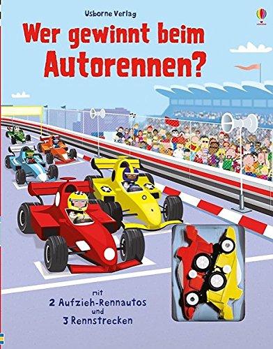 Wer gewinnt beim Autorennen?: Fahrspurenbuch