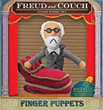 The Unemployed Philosophers Guild Freud and Couch Finger Puppet Set - Fridge Magnets
