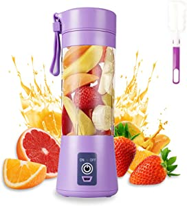 Portable Blender, MIAOKE Smoothie Blender, Personal Mini Juice Blender with Six Blades in 3D, USB Rchargeable Juicer Cup Home/Office/Outdoors