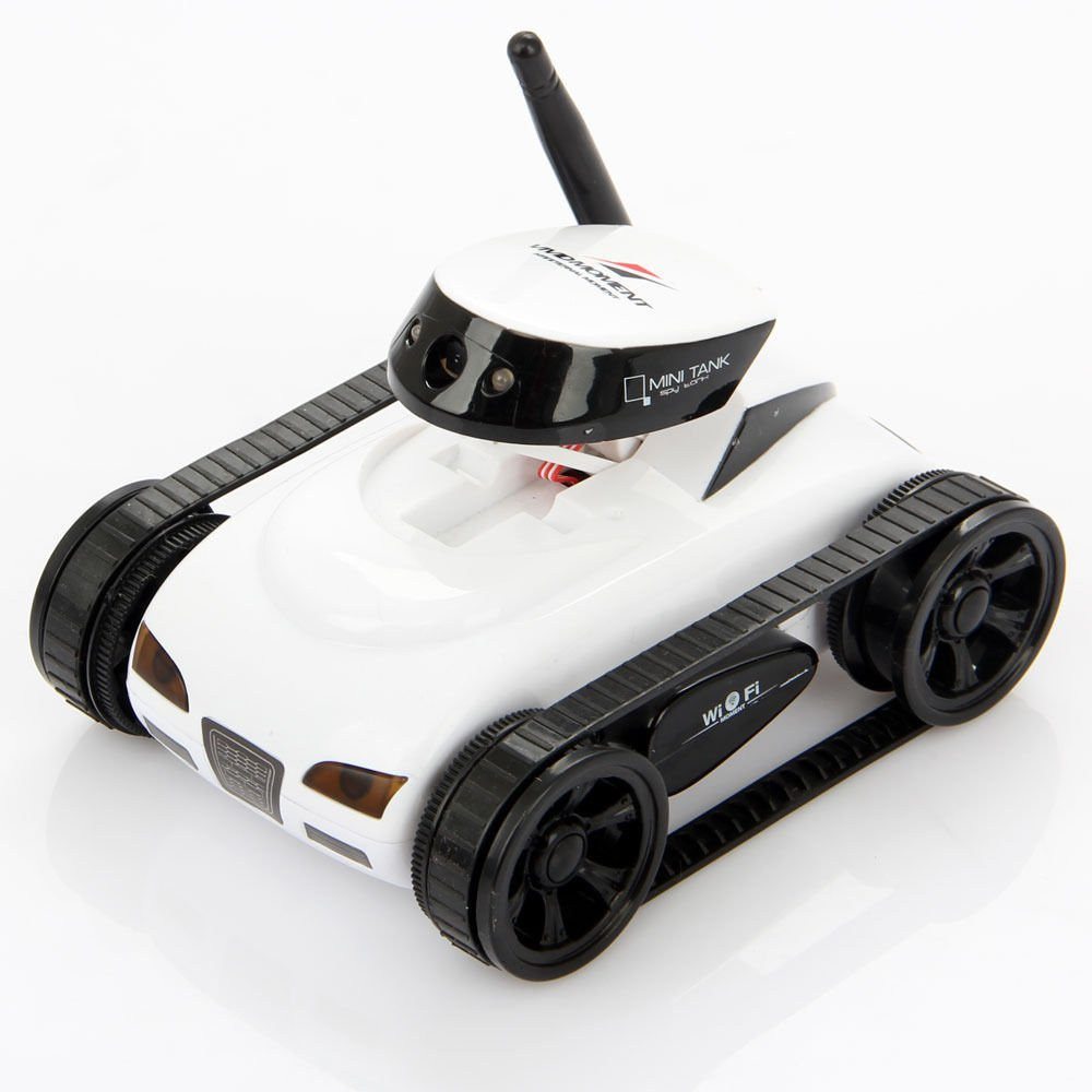 I_spy Mini Wilreless Spy Tank Rc Car with 0.3mp Hd Camera (White)wifi Controlled By Iphone Android
