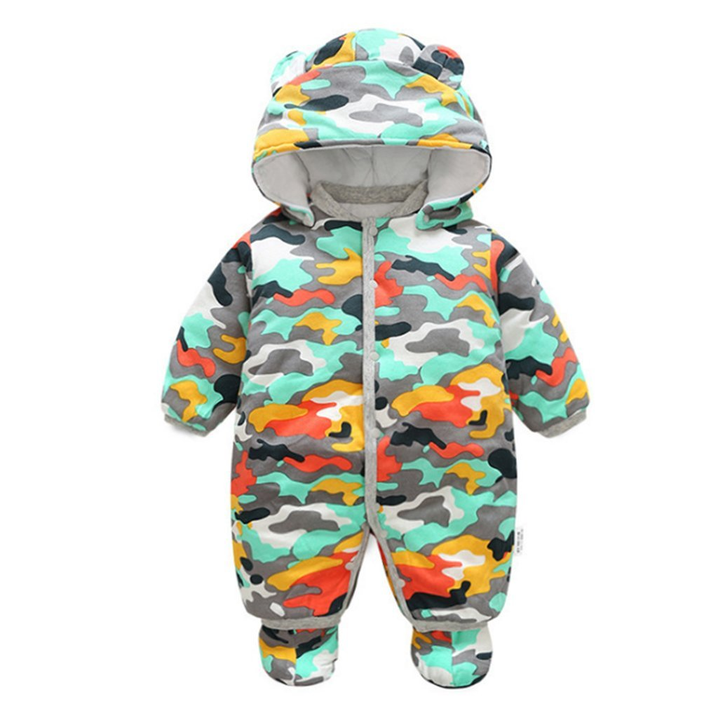 Vine Bébé Barboteuse Combinaison Manteau à Capuche Hiver Tenues Avec des bottes F170825HY01V