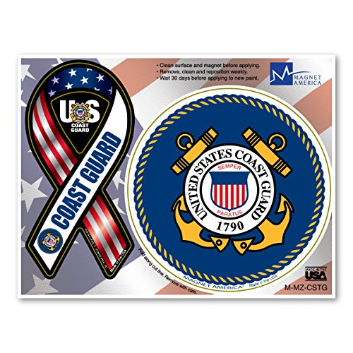 Coast Guard Combo Mini Ribbon/Circle Magnet