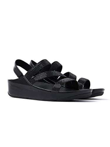 1d8be6124c299 Fitflop Women s Crystall Z-Strap Sandals - Black