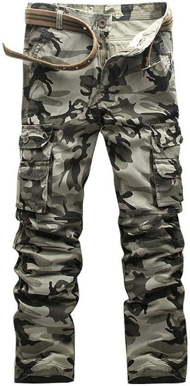 Loeay Pantalones de Trabajo de Combate de Carga para Hombre Ciudad ...
