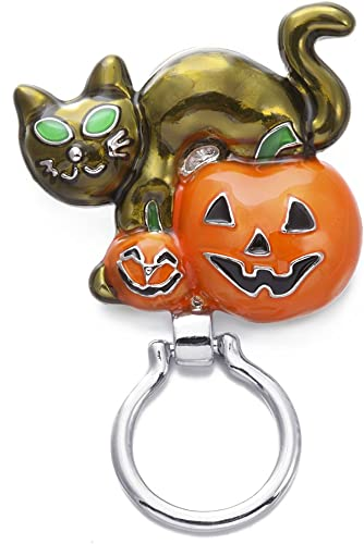 SENFAI Magnetic Eyeglass Holder-Pumpkin,zinc Alloy Brooch,Fashing and Charm Birthday Gift