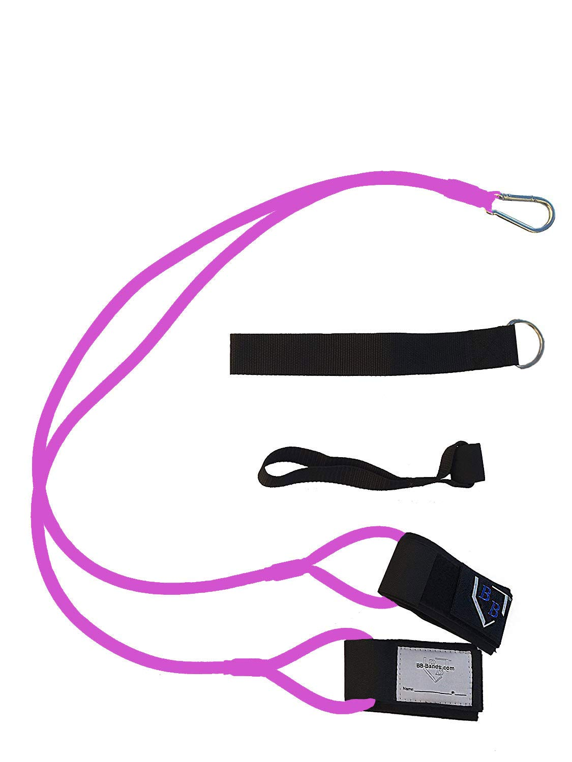 BB-Bands Sports Exercise Baseball/Softball Training Aid Pitching Arm Strength Quarterback Warmup Stretching Resistance Bands j (Pink, Adult)