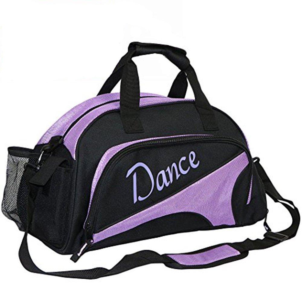 2017snowダンスDuffle Bag for GirlsスポーツジムバッグSmall B07C9VQN7W  パープル
