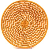 Fair Trade Uganda African Bukedo & Raffia Bowl 11.5-12.5'' Across, #UR1112