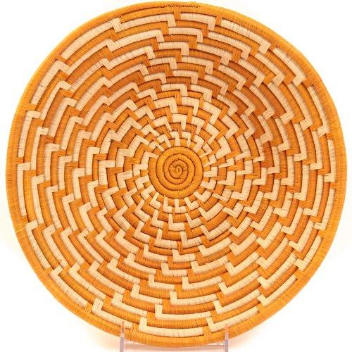 Fair Trade Uganda African Bukedo & Raffia Bowl 11.5-12.5'' Across, #UR1112 by Baskets of Africa