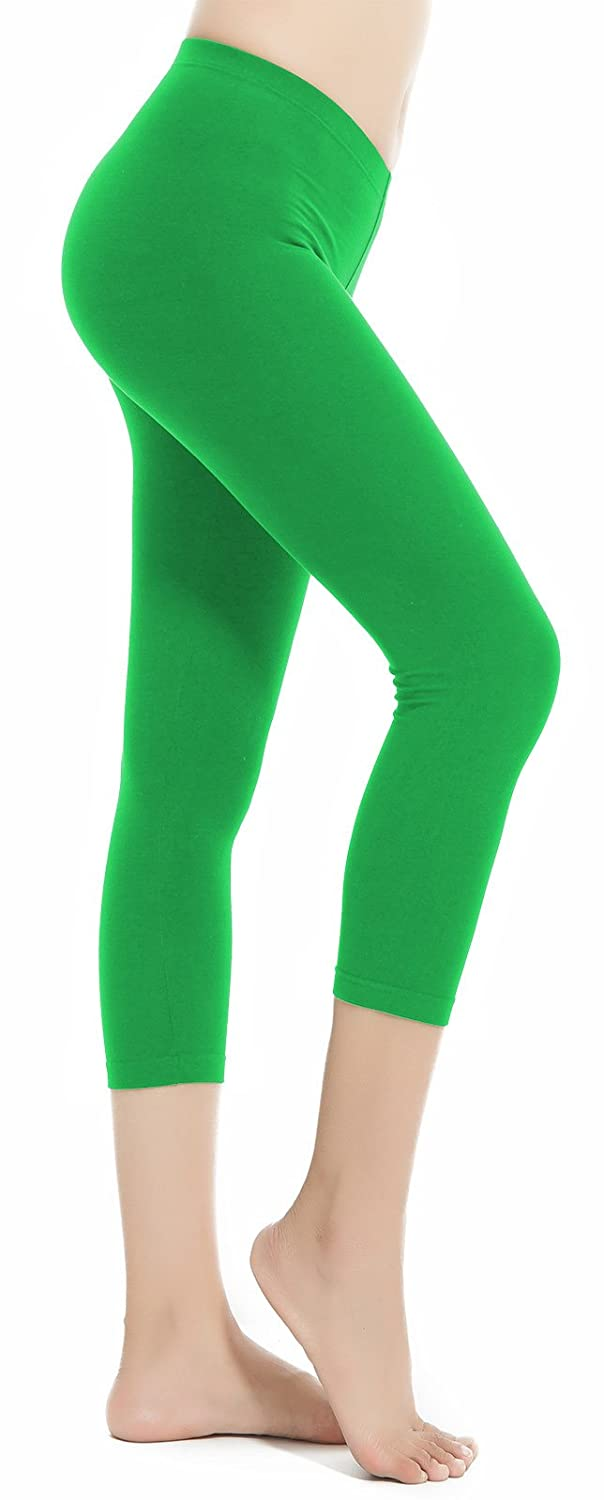 b768a6c86d541 Top1: Aenlley Women\'s Spandex Capris Leggings - Ultra Soft Workout Legging