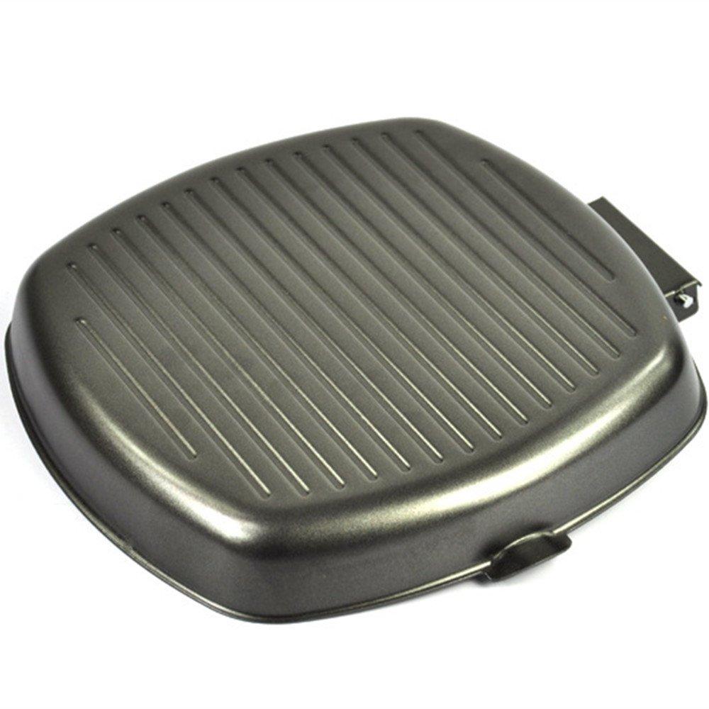 Plancha grill antiadherente sartenes cacerola cocinar carne con mango plegable apta para todos los tipos de cocina incluye inducción cocina eléctrica, ...