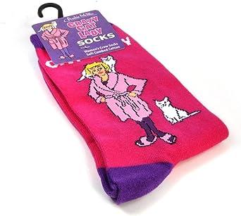 Crazy Cat Lady Plastic Bag Holder Sack Sock