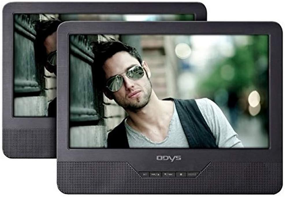 Odys Seal 9 Tragbarer Dvd Player Mit Zusätzlichem Drehbarem Bildschirm 23 Cm 9 Zoll Hochauflösendes Digitales Tft Display 800x480 Pixel Usb Sd Card Autopaket Fernbedienung Schwarz Audio Hifi