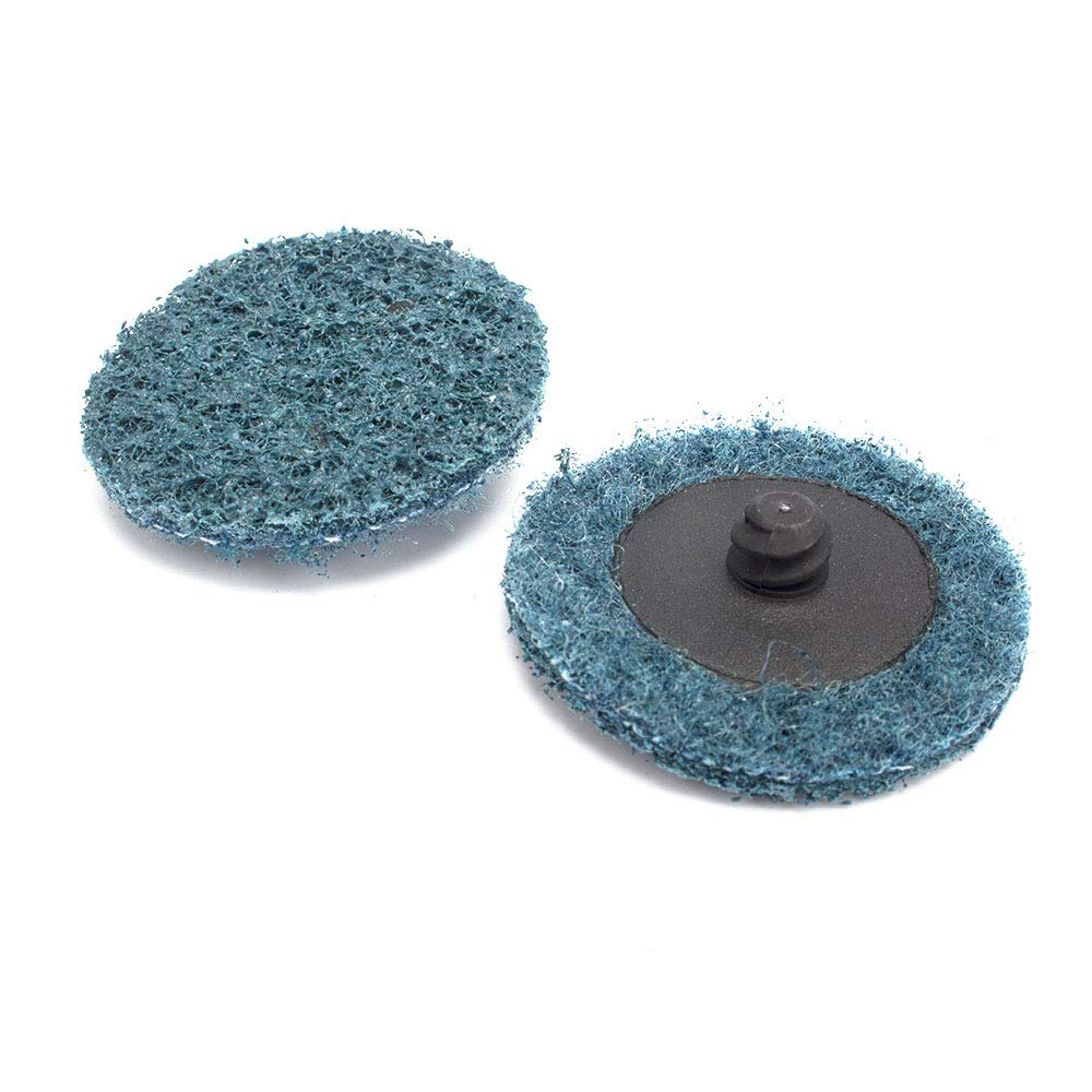 31Pcs 2 Roloc Surface Conditioning Buffing Dics Quick Change Prep Polishing Pad Set with 1Pc 1//4 Holder
