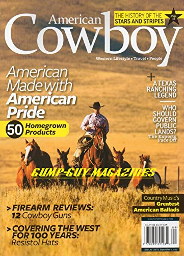 American Cowboy magazine, August/September 2014-Who Should Govern Public Lands? (100 Greatest Firearms)