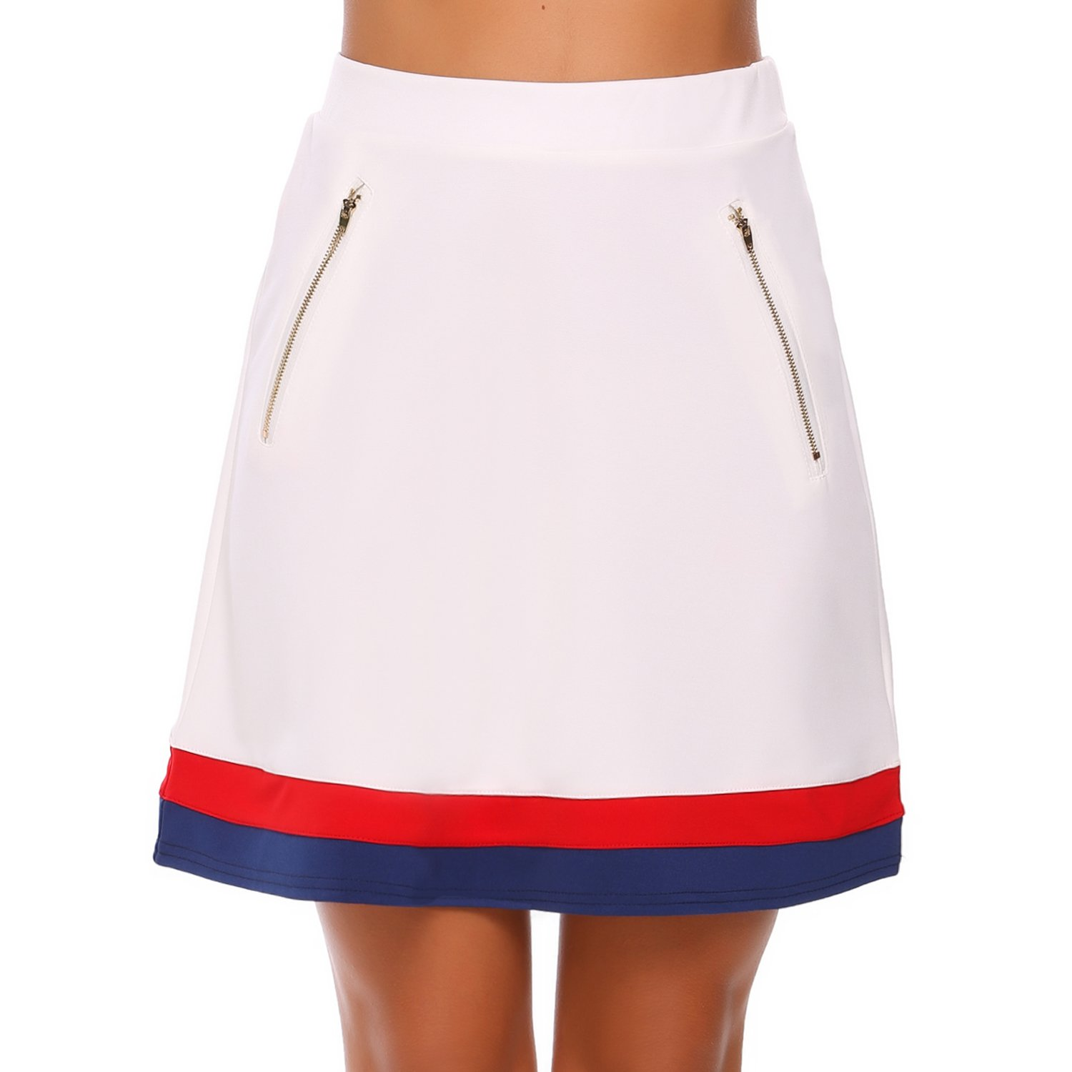 Zeagoo Adult Soft and Cozy Sweatpants Skirt White