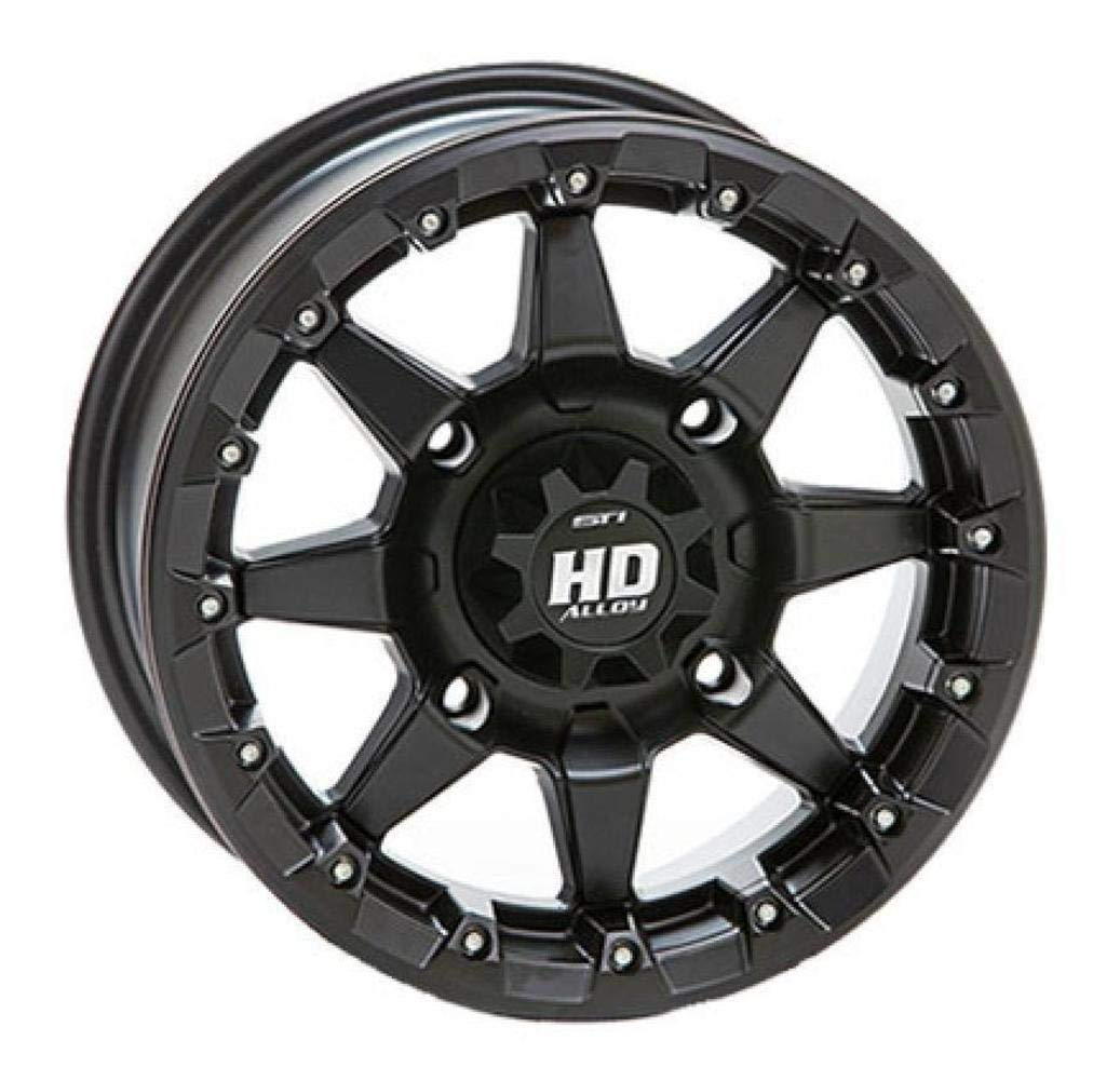STI HD5 Beadlock Matte Black ATV Wheel 14x7 (4/110) - (5+2) [14HB520]