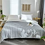 Air Conditioning Quilt Full Cotton Jacquard Double-sided Color Spinning Blanket Suitable For Home (Size : 150200cm)