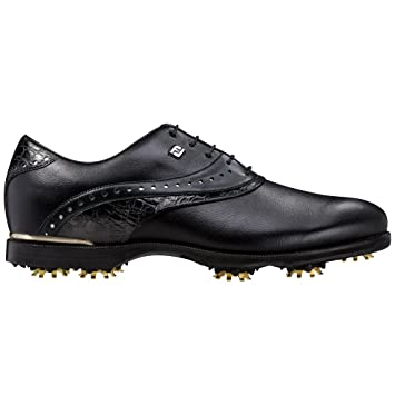 Icon Black Golf Shoes 52036 Closeout Black Croc Medium 7