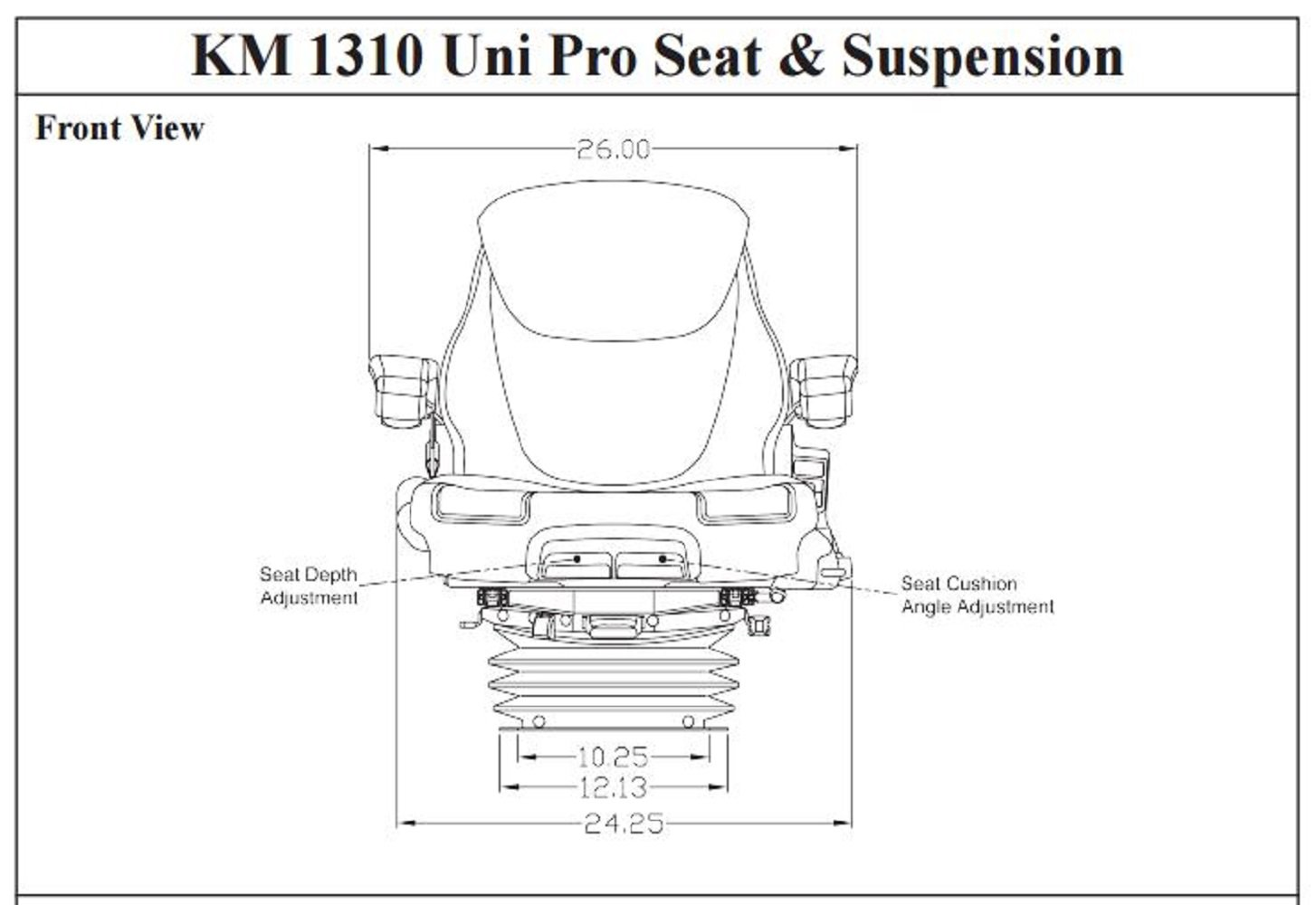 Amazon.com: KM 1310 Uni Pro Seat and Suspension Seat Tractors Case IH,  McCormick, Steiger, John Deere: Industrial & Scientific