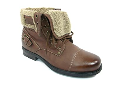 Men's 506015 Faux Fur Lined Fold Over Tall Winter Boots