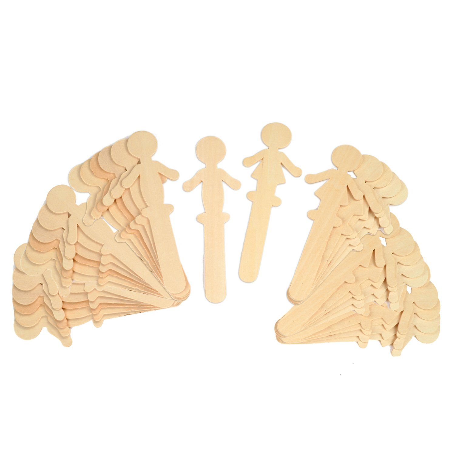 Creativity Street Natural Wood Craft Sticks, People, 5-1/2 Inches Tall, 36 Per Pack, 6 Packs
