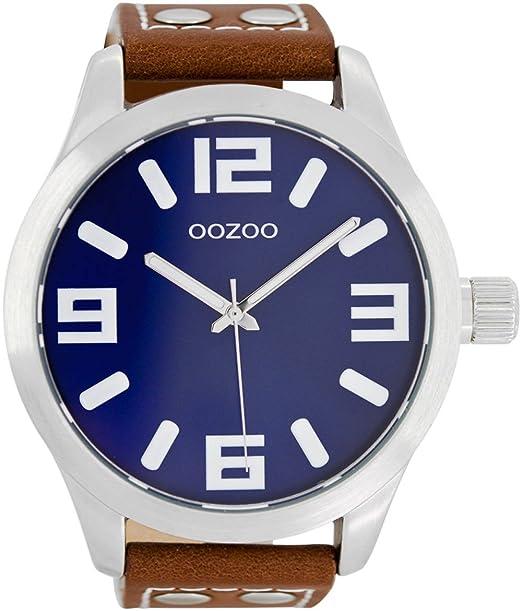 Reloj Oozoo extra grande C1015–carátula azul ...