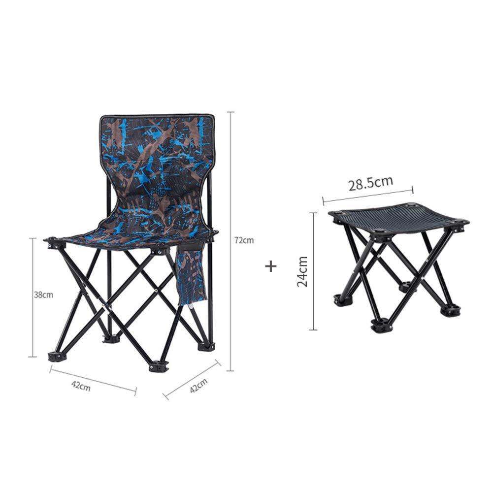 D  Plein Air Siège Assise Pliant portable Chaise De Camping Dossier, Chaise Aventure Alpinisme Chaises De Plage avec Sac-p