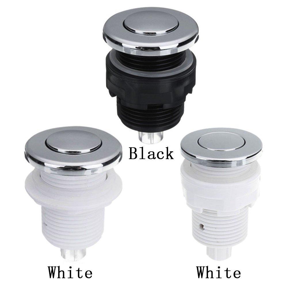 28//32//34/mm aria pressione interruttore a pulsante per vasca da bagno spa massaggio lavello smaltimento dei rifiuti 28 mm White//Black