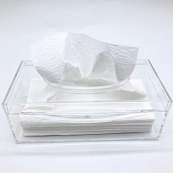 MUJI Clear Acrylic Bathroom Facial Tissue Dispenser Box Storage Case Cover Container Decorative Napkin Holder