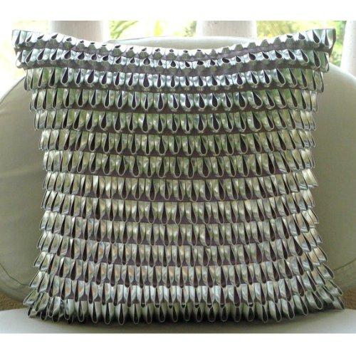 Designer Purple Pillow Cases, 3D Metallic Leather Pillows Cover, 18